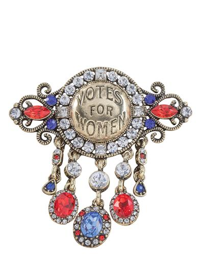Votes For Women Brooch