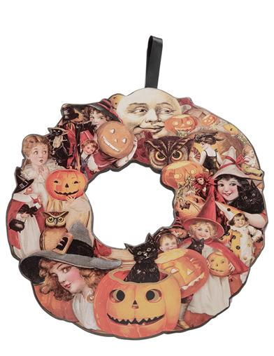 Spooks And Sprites On Parade Wooden Wreath