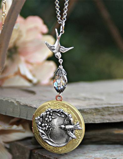 Sparrow's Flight Locket Necklace