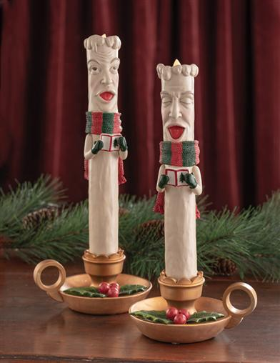 York And Yule Caroling Christmas Candles