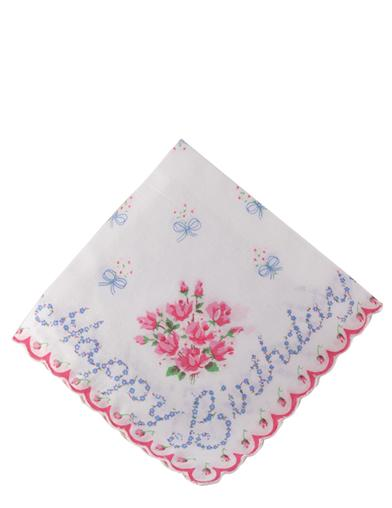Happy Birthday Floral Hankie