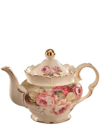 Victorian Rose Crowned Teapot