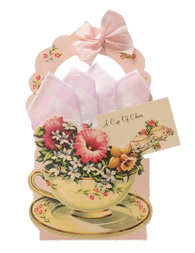 A Cup Of Cheer Birthday Hankie