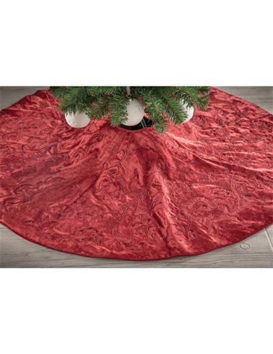 Beaded Merlot Tree Skirt