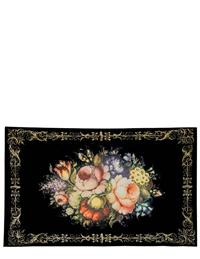 Gilded Age Still Life Of Flowers Kitchen Mat