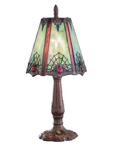 Arachne's Aura Stained Glass Lamp