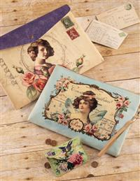 Victorian Ephemera Collage Carriers Save On Set!
