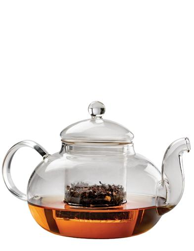 Dainty Glass Teapot With Strainer