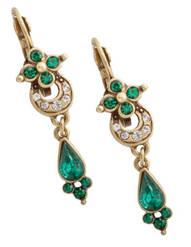 English Abbey Emerald Earrings