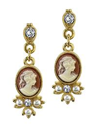 Lacey Lavinia Cameo Earrings