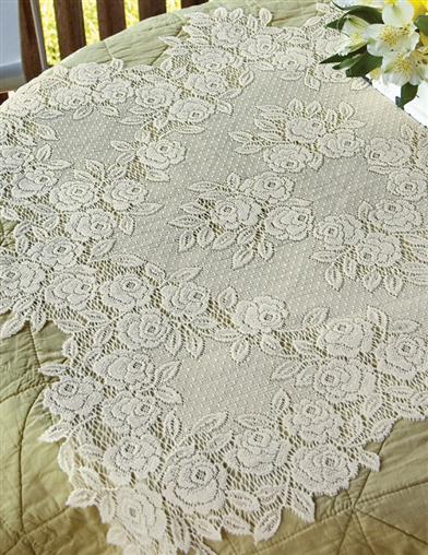 Tea Rose Lace Topper