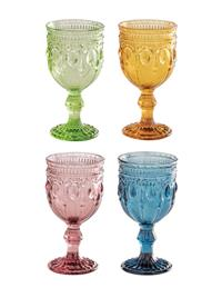 Jeweled Palette Goblets (Set Of 4)