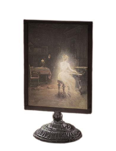 The Spirit At The Spinet Candlescreen