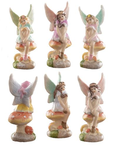 Fairy Birthday Candle Holders (Set Of 6)