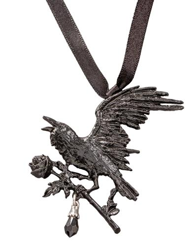 Lost Lenore Raven Necklace