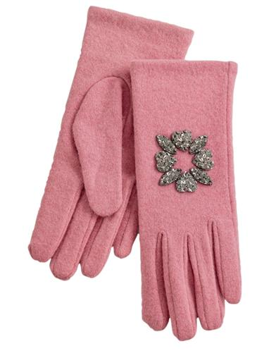 Blush Pink Wool Gloves