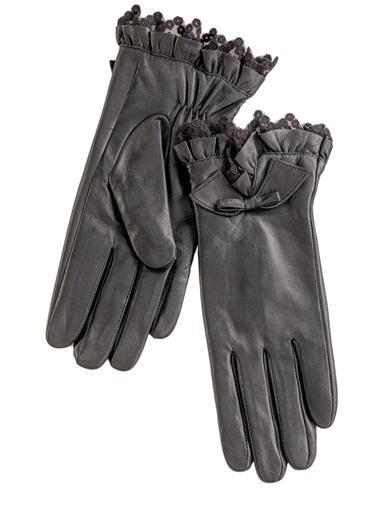 Lace Cuffed Leather Gloves