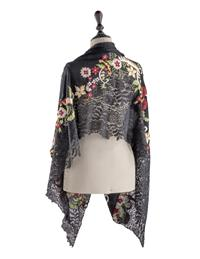 Empress Embroidered Floral Shawl