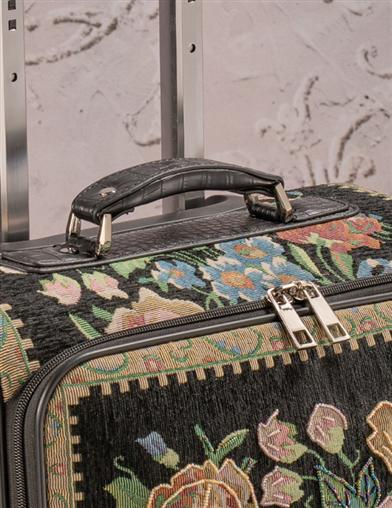 Midnight Garden Rolling Suitcase