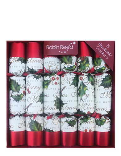 Bows & Berries Christmas Crackers (12Pkg)
