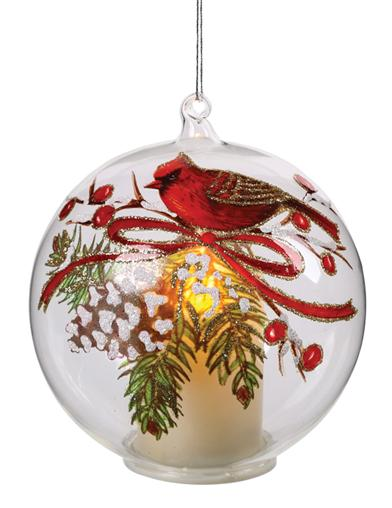 Christmas Cardinal's Nest Luminosity Ornament