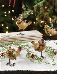 A Pair Of Festive Finches