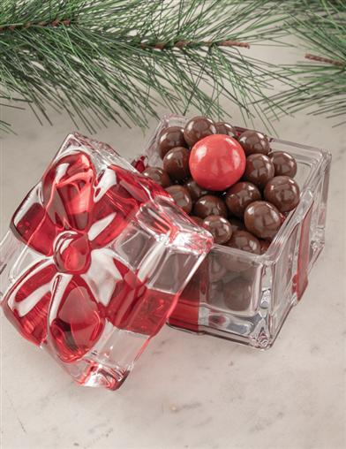 Red Ribboned Candy Dish