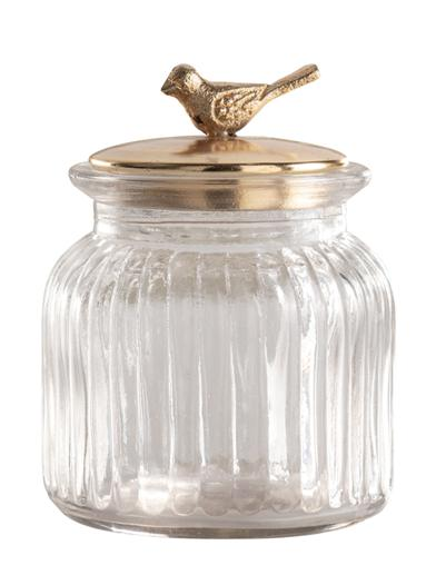 Goldfinch Storage Jar