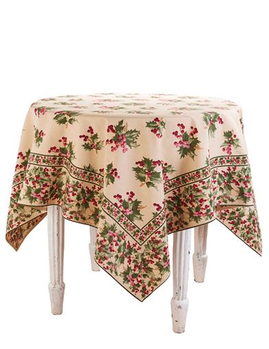 April Cornell Holly Berry Tablecloth
