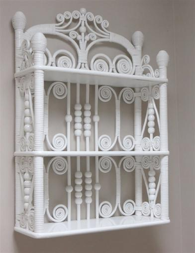 White Curio Wall Shelf