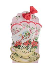 Holiday Teacup Hankie Card