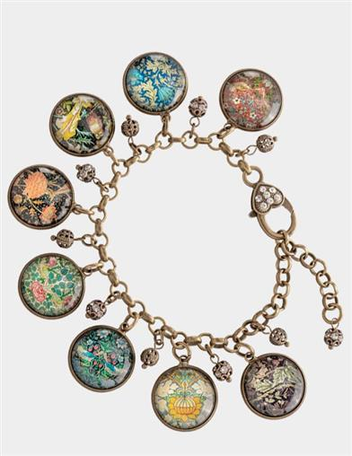 William Morris Charm Bracelet