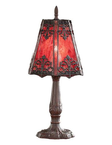 Crimson Glow Stained Glass Lamp