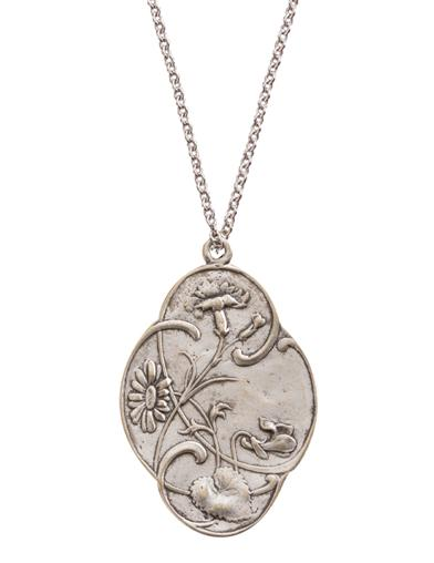 Embossed Reversible Pendant Necklace