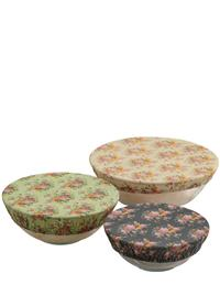 Rosy Cotton Bowl Covers (Set Of 3)