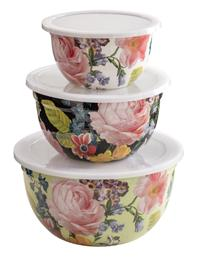 Cabbage Rose Mixing Bowls (Set Of 3)
