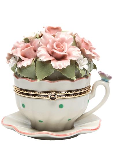 Enchanted Tea Cup Music Box