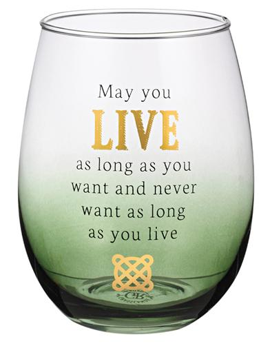 Celtic Blessings Wine Glass (Blessings Of Life)