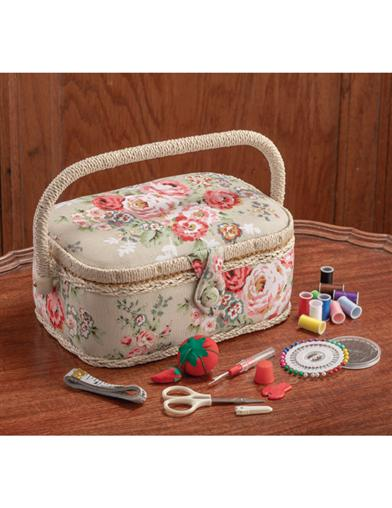 Wild Irish Rose Sewing Basket