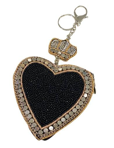 Mary Frances All Heart Beaded Key Fob & Coin Purse