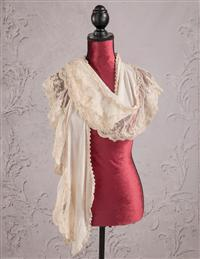 Lace & Champagne Scarf