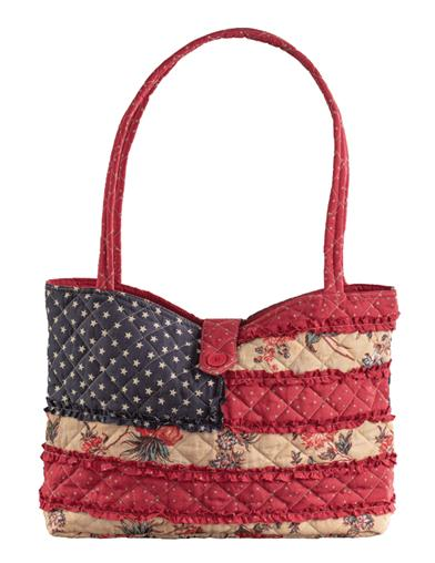 Old Glory Quilted Tote