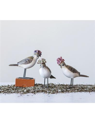 Flower Crowned Feathered Friends (Set Of 3)
