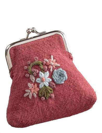 Embroidered Garden Coin Purse