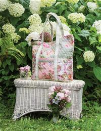 April Cornell Victorian Patchwork Quilted Tote