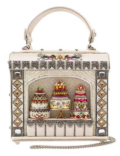 Mary Frances Cake Shop Beaded Top Handle Bag