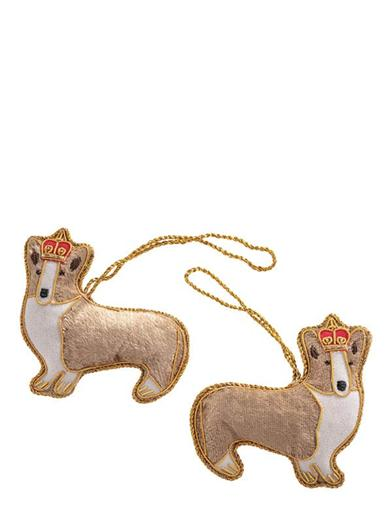 Monty & Emma Corgi Ornaments (Pair)