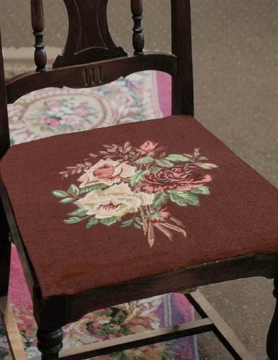 French Baroque Tapestry Chair Cover