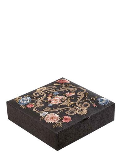 Embroidered Bouquets Jewelry Box