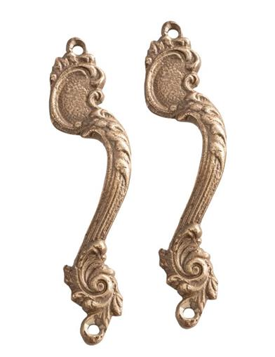 Baroque Brass Drawer Handles (Set Of 2)